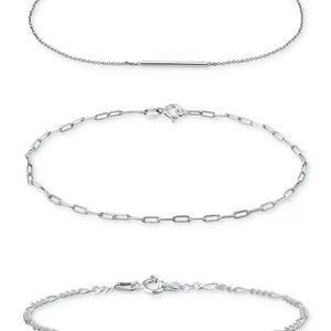 Giani Bernini 3-Pc. Chain Link Bracelet Set (NWT)
